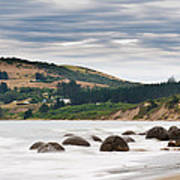 Moeraki Boulder East Coast Of South New Zealand   Poster