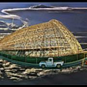 Moffett Field Hangar One And Truck Poster