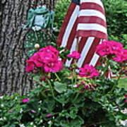 Mom's Pink Geranium  Poster