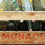 Monaco Wooden Crate Poster