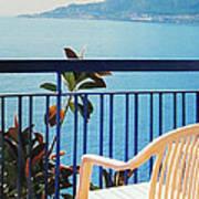Mondello Bay Sicily Poster