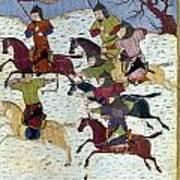 Mongol Battle, C1400 Poster