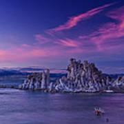 Mono Lake's Fiery Sky Poster