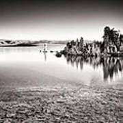 Monochrome Mono Lake Sunrise Poster by Tanya Harrison