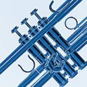 Monochrome Trumpet Poster