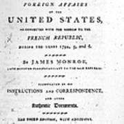 Monroe: Title Page, 1798 Poster