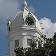 Monroeville Courthouse Clock Poster