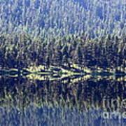Montana Lake Reflection Poster
