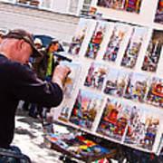 Montmartre Street Artists Poster