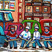 Montreal Bagels And Hockey Poster