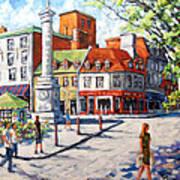 Montreal Street Urban Scene By Prankearts Poster