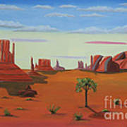 Monument Valley Lone Tree Poster