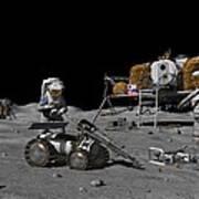 Moon Exploration, Artwork Poster