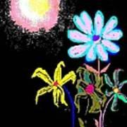 Moon Garden Poster