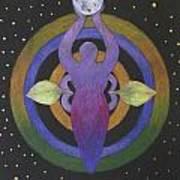 Moon Goddess Mandala Poster