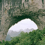 Moon Hill In Guangxi In China Poster
