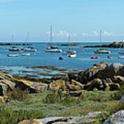 Moorings Iles Chausey Poster