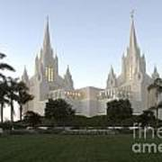 Mormon Cathederal San Diego Poster