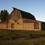 Mormon Row Barn Sunset Poster