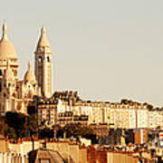 Sacre Coeur In A Summer Morning Poster