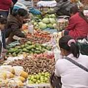 Morning Market In Luang Prabang Poster by Roberto Morgenthaler