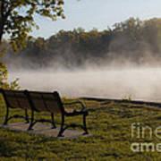 Morning Mist Over The Hudson River Poster
