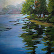Morning Over Fowler Lake Poster