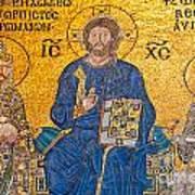 mosaic inside Hagia Sophia  Poster