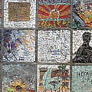 Mosaics Street At Birzeit Poster