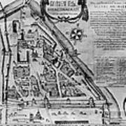 Moscow: Map, 17th Century Poster