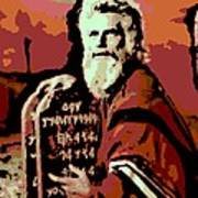 Moses And The 10 Commandments Poster