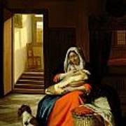 Mother Nursing Her Child Poster