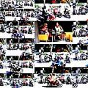 Motorbike Watching On Ubud Streets   Poster by Funkpix Photo Hunter