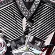 Motorcycle Engine Chrome Poster