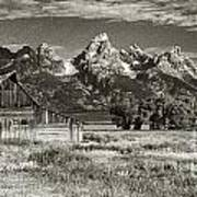 Moulton Barn And The Grand Tetons Poster