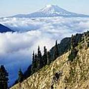 Mount Adams Above Cloud-filled Valley Poster