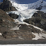 Mount Andromeda And Athabasca Glacier Poster