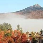 Mount Chocorua Autumn Fog Poster