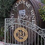Mount Palomar Winery Poster