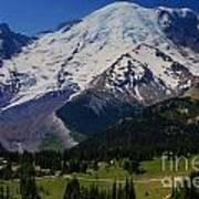 Mount Rainier Again Poster