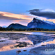 Mount Rundle In The Evening Poster