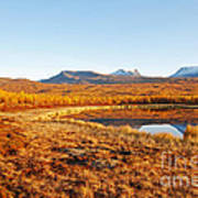 Mountain In Autumn Poster by Conny Sjostrom