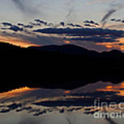 Mountain Sunset Reflection Poster