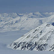Mountains And Glaciers Near Ny Alesund Poster