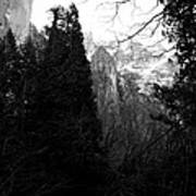 Mountains Of Yosemite . 7d6214 . Black And White Poster