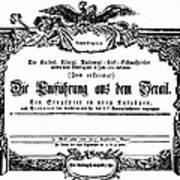Mozart: Seraglio, 1782 Poster