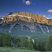 Mt Rundle And The Bow River Poster