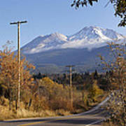 Mt Shasta Autumn Poster