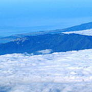 Mt Tamalpais From The Air Poster