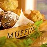 Muffins Fresh And Warm Poster